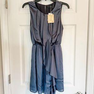 NWT Theme Gray Ruffle Dress TM2182 - Medium